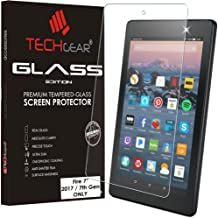"""TECHGEAR GLASS Edition Screen Protector for New Amazon Fire 7"""" Tablet (9th Generation / 2019 & 7th Gen / 2017) - Genuine Tempered Glass Screen Protector Cover (Not For Amazon Fire 7"""" 5th Gen / 2015)"""