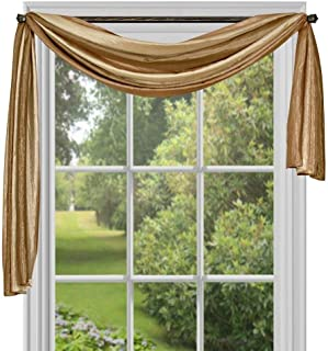 Achim Home Furnishings Ombre h Scarf, 50-Inch by 144-Inch, Sandstone