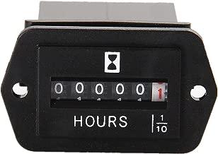 Searon DC 12V 24V 36V 48V 60V 72V Mechanical Engine Hour Meter Generator Hourmeter 6-80 Volt