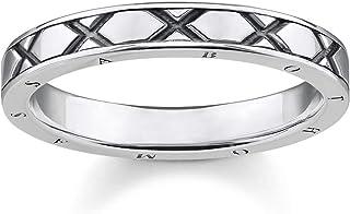 THOMAS Sabo 女式戒指亚洲饰品 925 纯银,黑色 TR2160-637 – 21