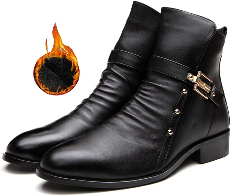 DANDANJIE Men's Boots Retro Martin Booties Outdoor Fashion High Top shoes