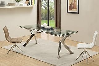 Table DE Repas Design en Verre Extensible CHROMATO