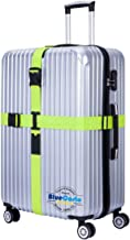 BlueCosto (Green) Heavy Duty Cross Luggage Strap Suitcase Travel Belt 600001-GRE