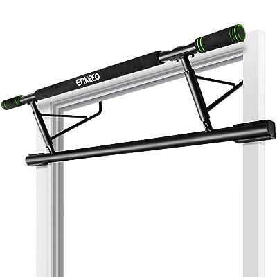 ENKEEO Doorway Pull-Up Bar Fitness Chin-Up Fram...