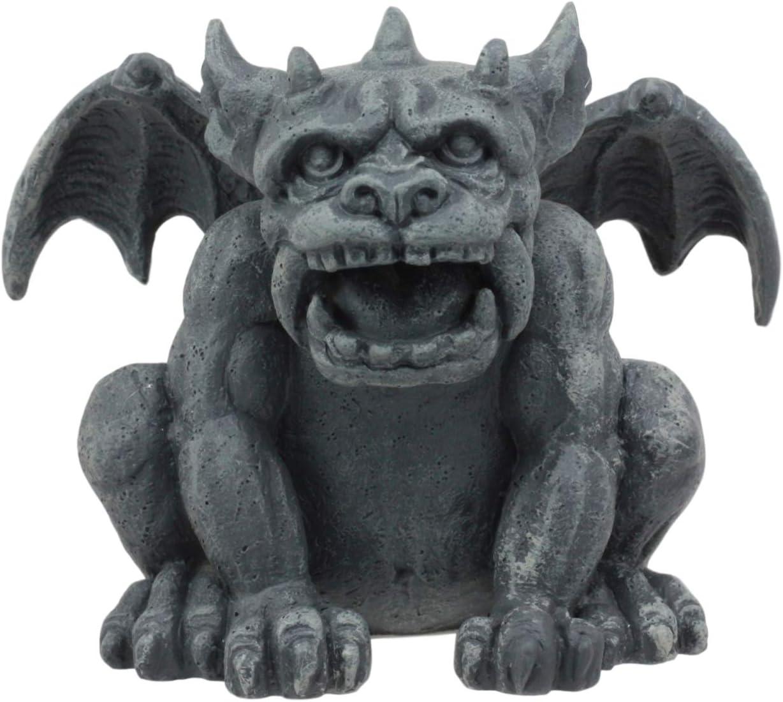 Gothic Horned Spell Reading Gargoyle Ward Figurine Sculpture Scholar Bibliogr...