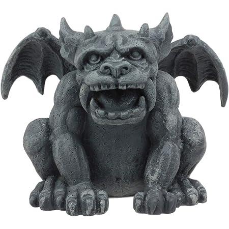 Amazon Com Ebros Gift Winged Ram Horned Gargoyle Sitting On Cathedral Pedestal Statue 6 High Dark Fantasy Ossuary Macabre Graveyard Halloween Gargoyles Collectible Figurine Accent Home Kitchen