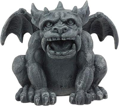 "Ebros Gothic Fido The Fat Sabre Tooth Tiger Gargoyle Figurine Small Mythical Fantasy Decor Statue 3.5"" Tall As Talisman of Protection Fairy Garden Accessory DIY Renaissance Or Medieval Collectible"