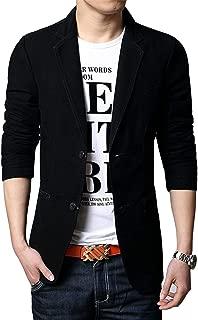 Men's Slim 2-Button Single Breasted Cotton Lightweight Blazer Jacket Sport Coat