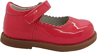 Grosby Girls Shoes Mousey Mary Jane Coral Patent New