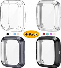 KIMILAR Pellicola Custodia per Fitbit Versa 2 (Non per Versa & Versa Lite), (4 Confezione) TPU Placcato in Morbido Protezione Schermo per Fitbit Versa 2 Smartwatch