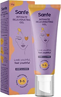 Sanfe Intimate Lightening & Tightening Rejuvenating Gel for Women   For Inner Thighs & Bikini Area with Airless Pump Tube ...