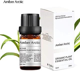 AMBER ARCTIC ベチバー エッセンシャル オイル ディフューザー 用 100%ピュア フレッシュ オーガニック 植物 療法 ベチバー オイル 10ml / 0.33oz