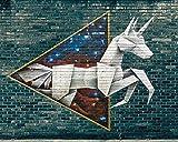 Kpoiuy Rompecabezas De Madera Graffiti Origami Arte Callejero Pared De Ladrillo 1000 Piezas Rompecabezas Juegos De Rompecabezas para NiñOs DecoracióN NavideñA En 3D