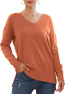 Sponsored Ad - Jouica Women's Casual Lightweight V Neck Batwing Sleeve Knit Top Loose Pullover Sweater