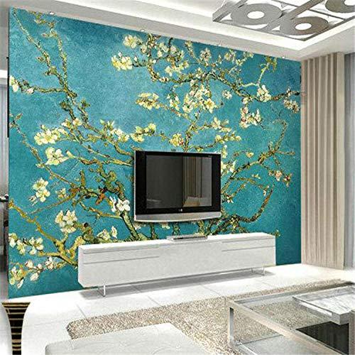 Nomte Van Gogh De Abrikoos Bloesem Boom Kunst Fotobehang Aangepaste muur Mural Vintage Room Decor Slaapbank Achtergrond Muurbehang 400x280cm