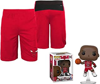 Chicago Bulls Youth Free Throw Shorts with Michael Jordan Figure