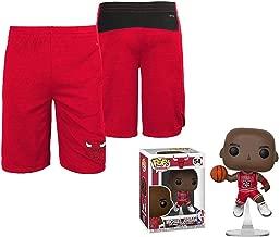 Genuine Stuff Chicago Bulls Youth Free Throw Shorts with Michael Jordan Figure