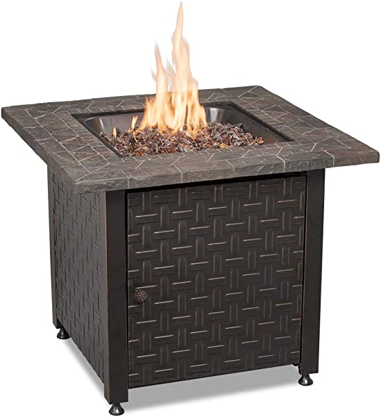 Endless Summer GAD15256SP LP Gas Outdoor Oil Rubbed Bronze Fire Table Multicolor