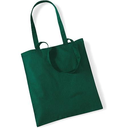 Stoffbeutel Baumwolltasche Beutel Shopper Umhängetasche viele Farbe bottle green