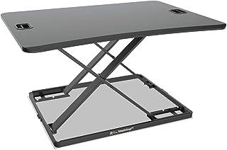 Alera AEWR6B AdaptivErgo Ultra-Slim Sit-Stand Desk, 31-1/3 inch x 22 inch x 15-3/4 inch, Black