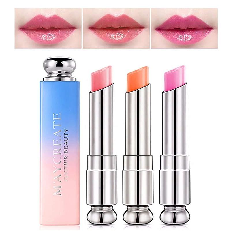 魔術要件インゲン1ピース色変化温度口紅、長続きがする保湿唇ケア変色口紅リップペンシルリップグロス (2)