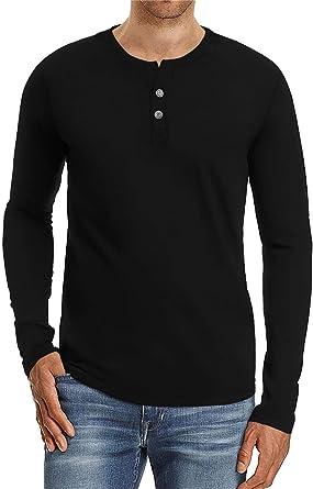 AIYINO - Camiseta de manga larga para hombre, estilo casual