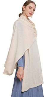 Women's Scarf 100% Pure Cashmere Gift Wrapped Extra Large Scarves for Women by FINCATI