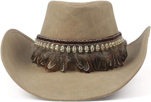 rotyiger Warme Mützen für Frauen, Qualität West Cowboy Hut Mode Kunstleder Metall Pistole Dekoration Sombrero Western m er Frauen Cap