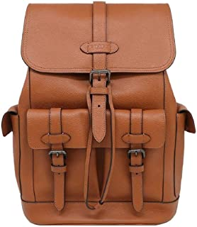 Coach Men's Hudson QB Saddie Pebbled Leather Backpack, Style F36811