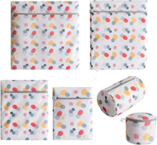 Gzlikes Laundry Bags Mesh Wash Bags for Delicates, Lingerie, Clothes, Bra, Washing Machine Large Travel Packing Laundry Bag with Zipper 6 Pcs