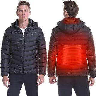 Men's Heated Jackets, Softshell Jacket Heated Jacket Waterproof Softshell Winter Jacket Heater Jacket Windproof Ski Jackets for Men(Color:Black,Size:S)