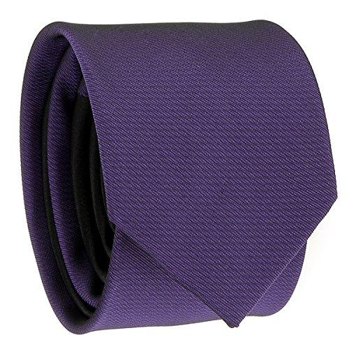 Cravate Slim Violette et Noire Bicolore