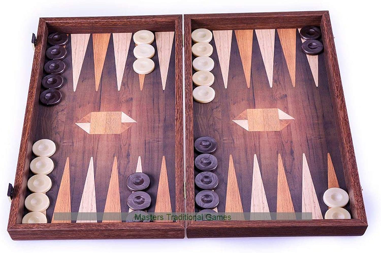 Manopoulos Geometrical bois Motif Backgammon Set