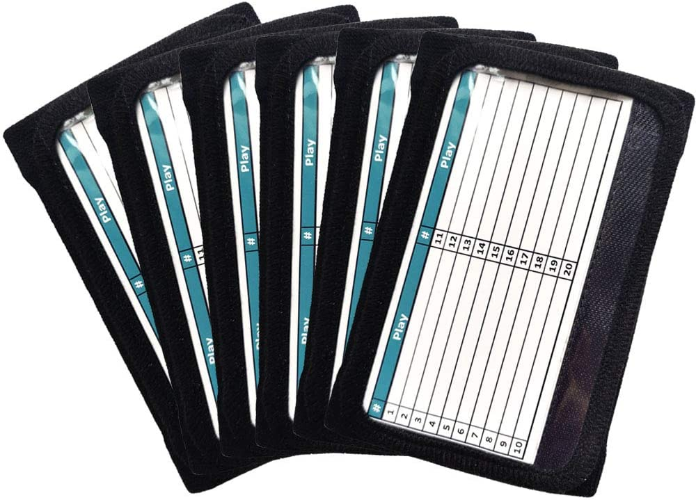 Adult Large Details about  /7 Champro Wristband Playbooks w// 3 Playcard Windows black