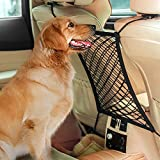 AUTOWN Car Dog Barrier, Dog Net for Car Between Seats, Pet Net Barrier Front Seat, Car Mesh Barrier Back Seat, Universal Stretchy Car Seat Storage Mesh Net