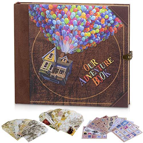 XYTMY Nuestro libro de aventura, diario de viaje, planificador de aventura, bloc de notas fotográficas, páginas en blanco, libro de bocetos, diario de vacaciones (nuestros globos de aventura).