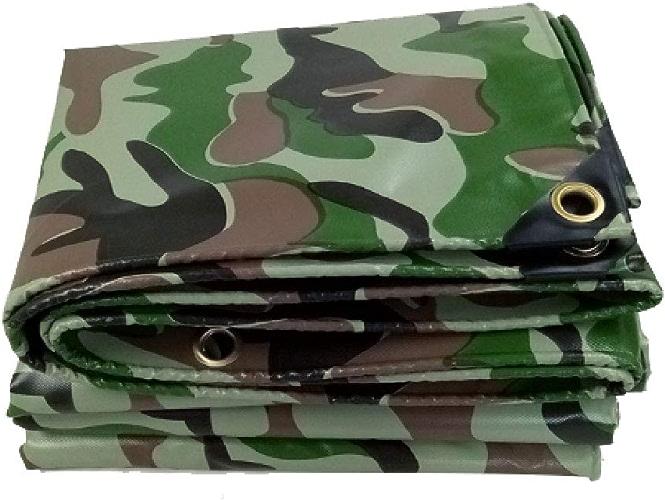 Toile de bache de Camouflage Toile imperméable Tissu imperméable à l'eau Jungle Couteau de Camouflage gratter Tissu Housse de Pluie Prougeection Solaire Anti-poussière (Taille   2  3m)