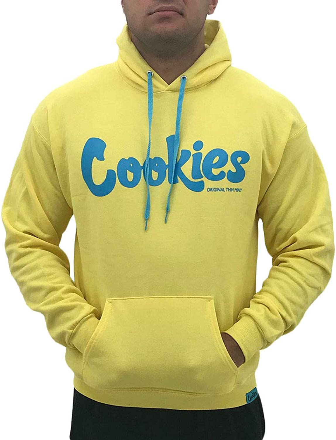 Cookies SF Berner Men's Thin Mint Fleece Long Sleeve Hoodie Gelb Blau