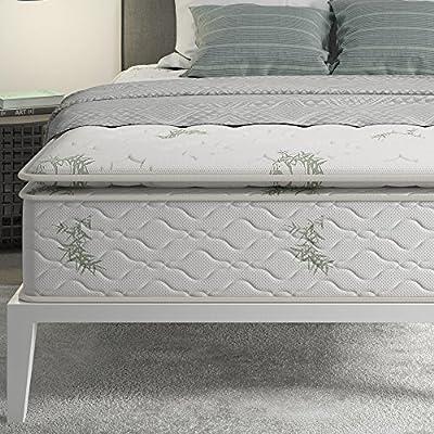 Signature Sleep 13-Inch Hybrid Coil Mattress, Queen White