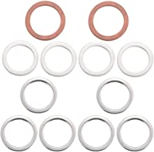 Differential and Transmission/Transfer Case Drain Plug Crush Washers Gaskets for Toyota 4runner Tacoma Tundra FJ cruiser Land Cruiser, Replacement for the Part# 12157-10010 90430-24003 90430-18008