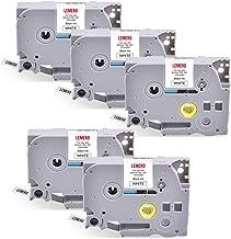 Superpage Lot de 6 rubans pour /étiqueteuse TZe-131 TZe-231 TZe-431 TZe-531 TZe-631 TZe-731 TZe-731 Noir sur transparent blanc//rouge//bleu//jaune//vert//12 mm x 8 m
