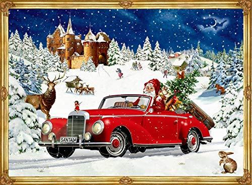 A4-Wandkalender - Winterfahrt im Oldtimer