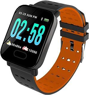 OPAKY Reloj Inteligente Deportivo para Mujer Hombre Compatible con iOS y Android Smart Watch Hombres Mujeres Heart Rate Fi...