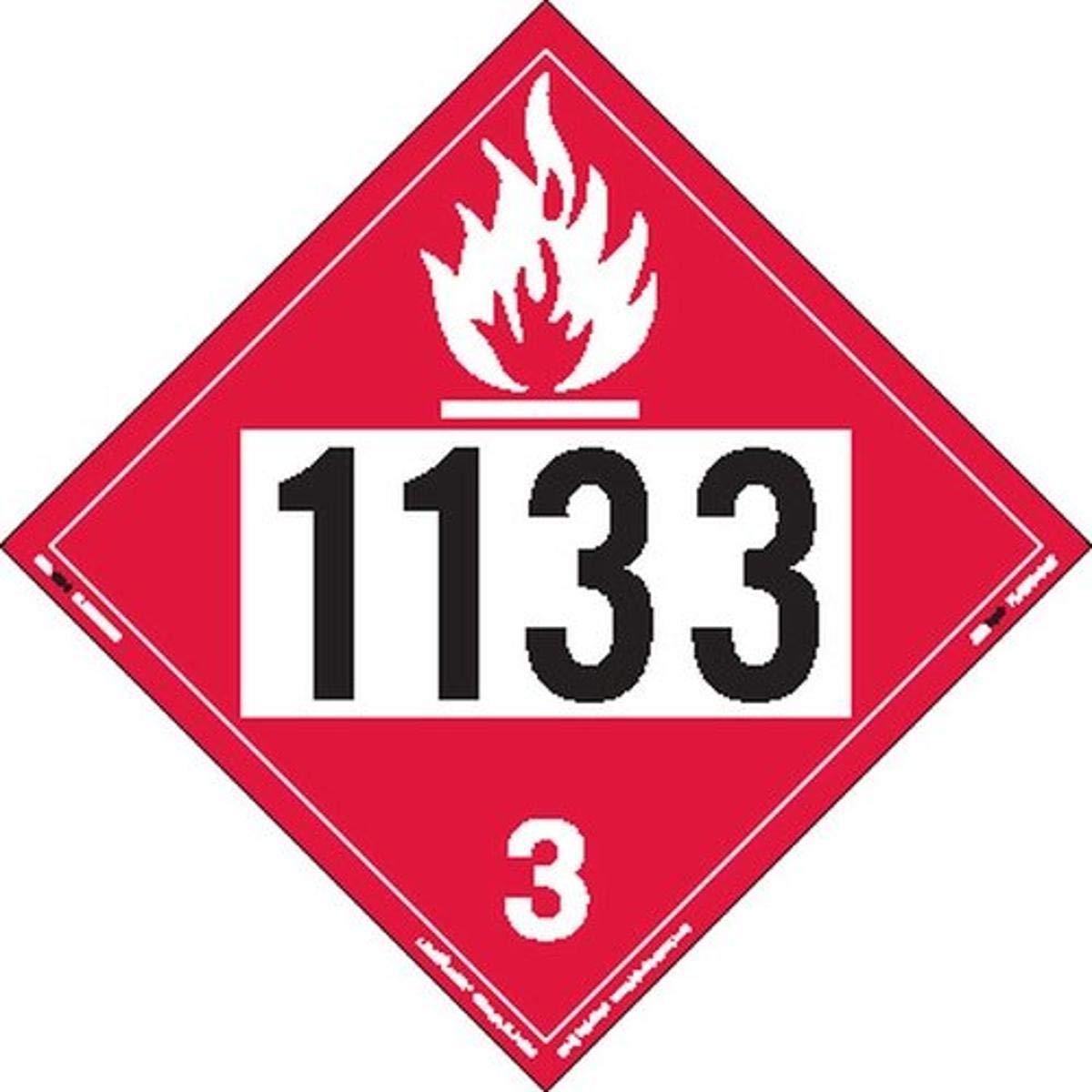 Labelmaster ZT2-1133 UN 1133 Flammable Ta Weekly update Liquid Hazmat Ranking TOP17 Placard