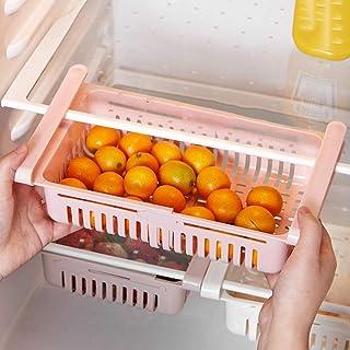 99AMZ 4PCS Boite Rangement Frigo Réfrigérateur Escamotable avec Tiroir Organisateur Boîte de Rangement Multifonction pour ...