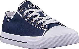 Lugz Women's Stagger Lo Fashion Sneaker, Navy/White, 6