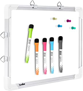 Small Dry Erase White Board – Magnetic Hanging Whiteboard for Wall Portable Mini Double Sided Easel Hold in Hand for Kids Drawing, Kitchen Grocery List, Cubicle Memo Board.