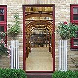 TMANQ Türtapete Selbstklebend Türposter Bücherregal Der