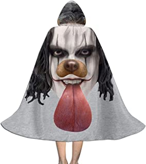 The Crow Brandon Lee Dog Snapchat Filter Unisex Kids Hooded Cloak Cape Halloween Xmas Party Decoration Role Cosplay Costumes Black