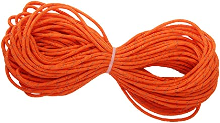 VORCOOL 4 x Windproof Tent Rope with Tensioner for Camping Hiking 3 m Red